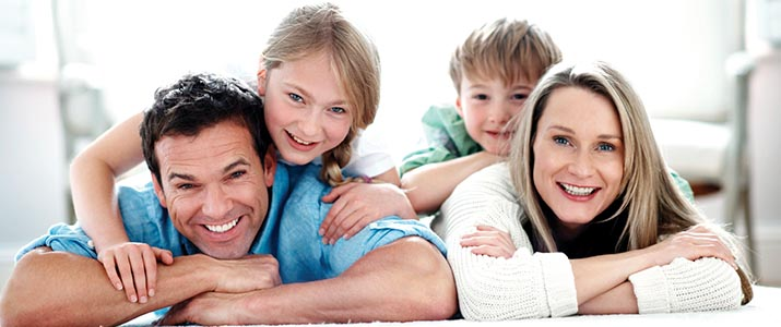 A family getting preventive dental care in Roseville